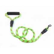 Reflective Waterproof Rope Cord Dog Leash Slip Lead Soft Padded Grip