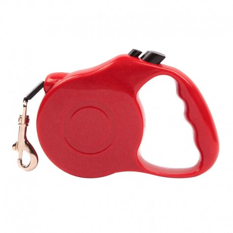 Quick-Stop Retractable Cute Dog Leash Soft Handle Easy Use