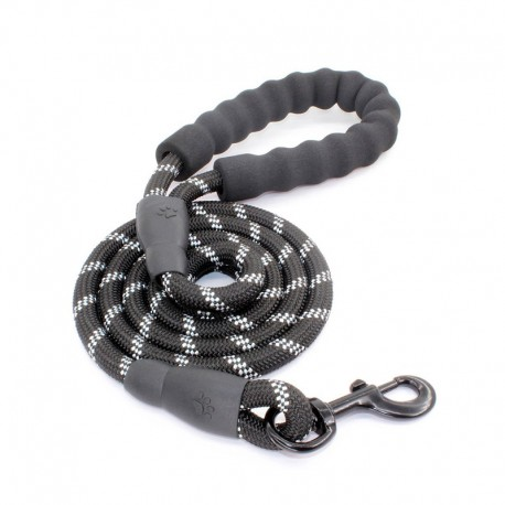 Mountain Reflective Dog Leash Climbing Rope Foam Handle Best Training Assistant