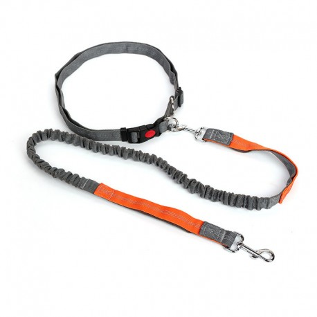 Breathable Waist Running Dog Leash Bungee Adjustable Night Visible