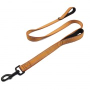 Reflective Nylon Heavy Duty Dog Leash with Traffic Handle Padded Optimal Length