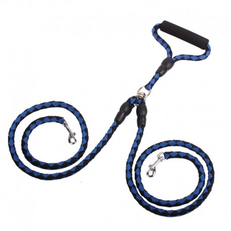 Braided Dual Dog Leash for 2 Dogs Walking Zero Tangle Free Moving