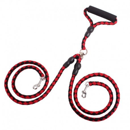 Dual Tangle Free Dog Leash for 2 Dogs Foam Handle Reliable Control