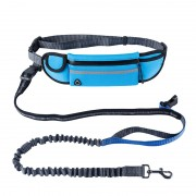 Hands Free Running Bungee Dog Leash with Waist Bag Reflective Reliable Control