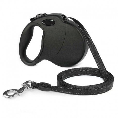 Safe Night Walking Retractable Lighted Dog Leash Gel-Cushioned Grip
