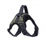Heavy Duty Tactical Dog Harness with Reflective Strips for Safe Night Walking