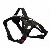 Soft Camo Tactical Dog Harness Vest with Thick Nylon Material for Reliable Protection