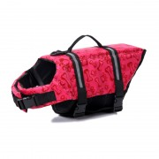 High-contrast Color Dog Life Jacket with 2 Handles for Extraction
