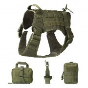 Training Tactical Dog Harness with Mesh Padding and Handles for Comfortable Wearing