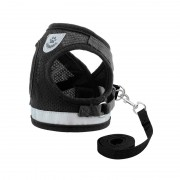 Breathable Comfortable Mesh Dog Harness with Reflective Lines for Increased Safety