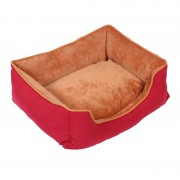 Bolster Dog Bed Sleeper Comfortable Couch with Velvet Fabric to Keep Warm