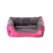Bolster Dog Bed Luxury Velvet Sleeper with Easy Entry Design Suitable for Senior Dog