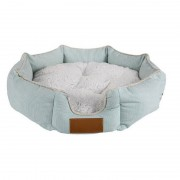 Round Dog Bed with Lovely Cuddle Design and Soft Lining to Decor Your Home