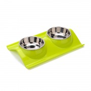 Detachable Elevated Double Dog Bowl Dinner Table Easy Clean