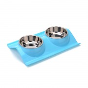 Dinner Premium Quality Double Dog Bowl Detachable Design Easy Clean