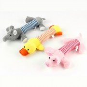 Soft Plush Surface Dog Squeaky Toy with Multiple Squeakers for More Fun