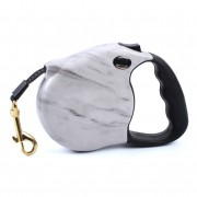 Grey Marble Retractable Dog Leash for Pets Up to 88lbs Sturdy Choice
