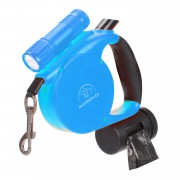 Retractable Dog Leash | Heavy Duty Dog Leash | Dog Leash with Soft Handle Blue
