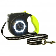 Retractable Dog Leash | LED Dog Leash | Dog Leash with Lights for Safe Walking Yellow