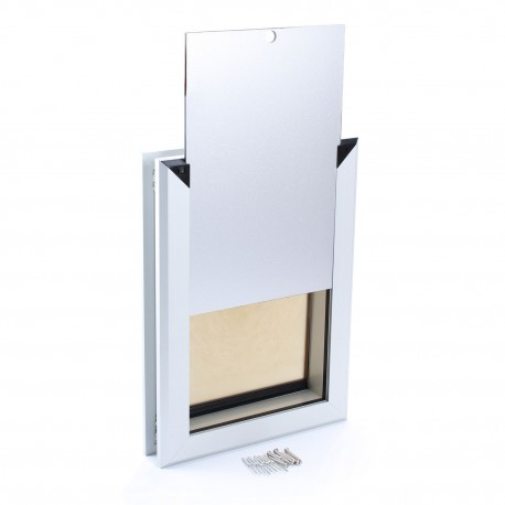 Large Dog Door | Magnetic Dog Door | Dog Door with Slide-in Panel and Security Locks for Home Safety