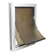 XL Dog Door | Magnetic Dog Door | Dog Door Heavy Duty Aluminum Frame with Double Flaps