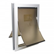 Large dog door | Dog Door | Locking Dog Door with Dual Flaps Aluminum Frame Strong Design